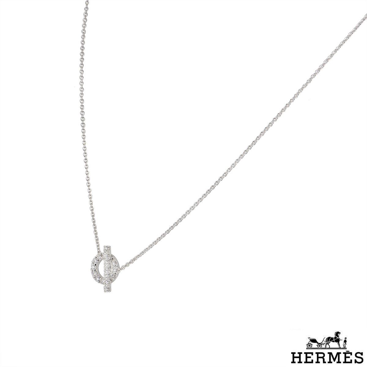 Hermès White Gold Diamond Finesse Necklace